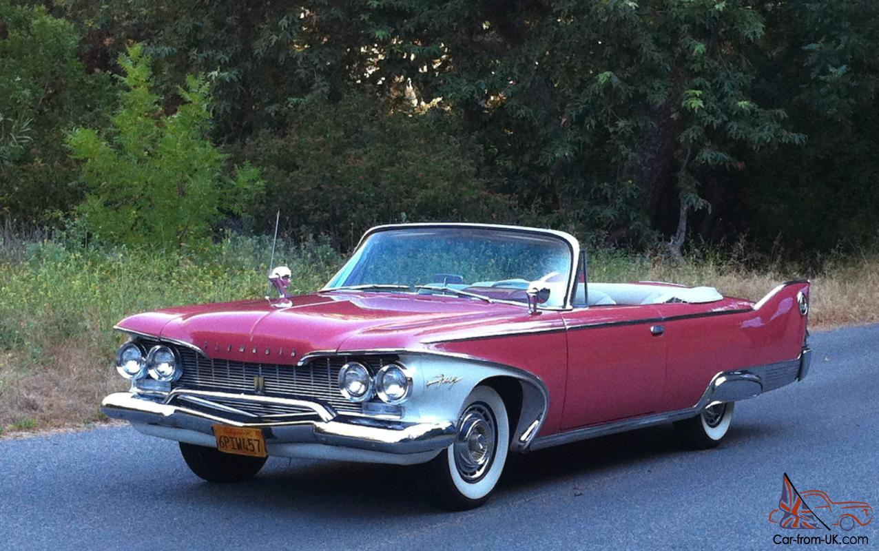 1959 plymouth sport fury interior related keywords - 1960 Plymouth Fury Convertible 413 Big Fins Restored 1957 1958 1959
