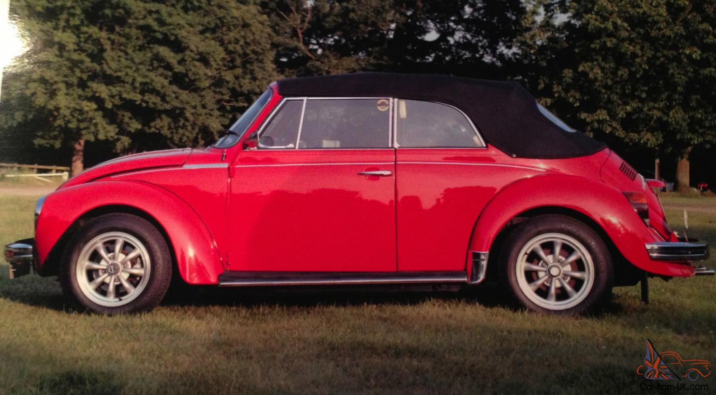 Consider, red v w vintage convertible idea