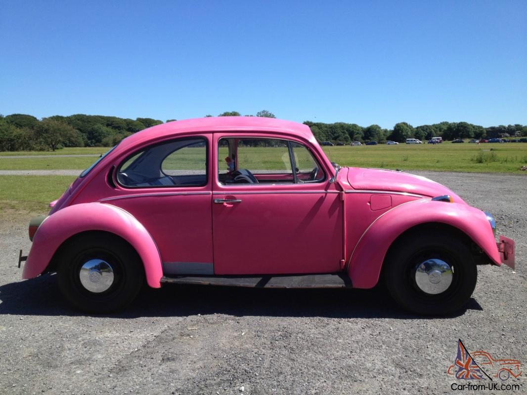 classic 1973 vw beetle 1303 pink excellent condition. Black Bedroom Furniture Sets. Home Design Ideas