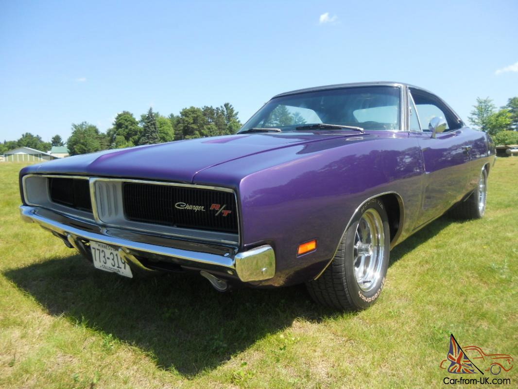 1969 dodge charger r  t 6 pack plum crazy