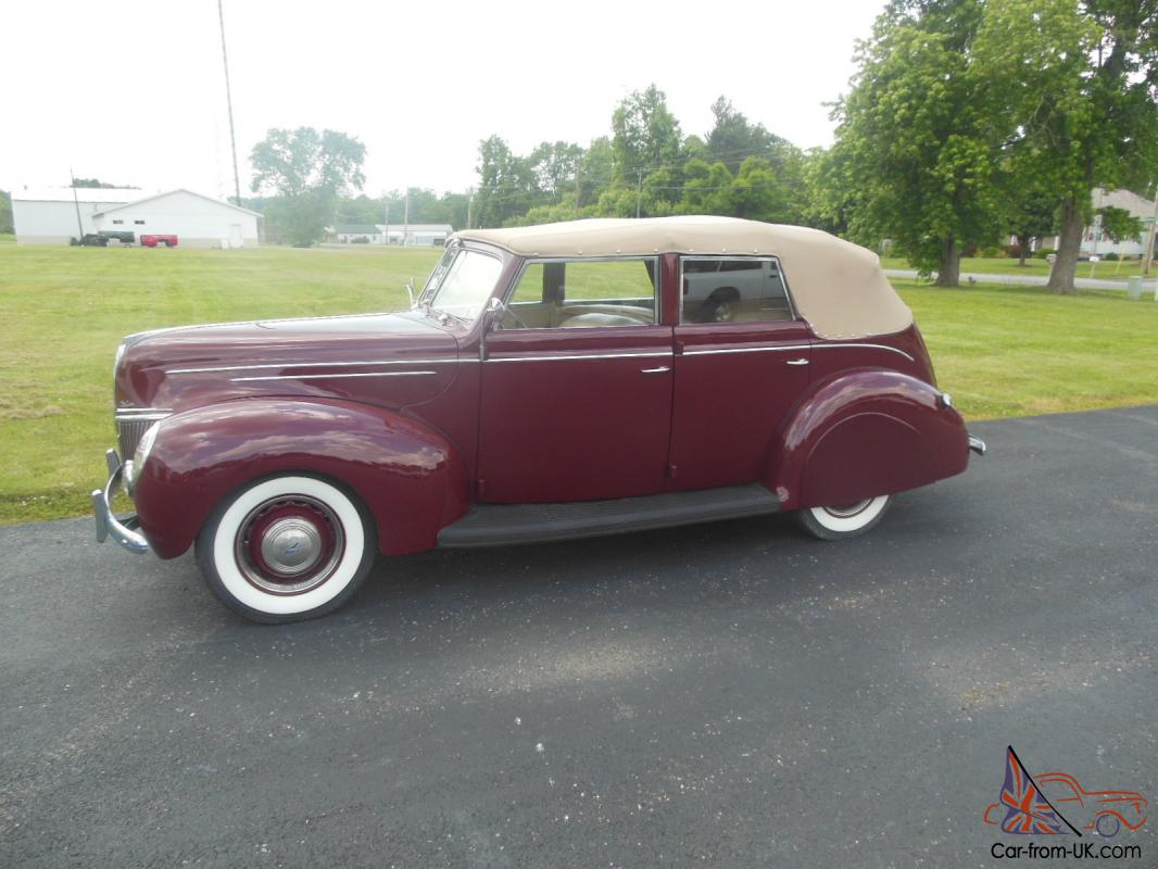 1939 ford 4 door convertible very nice restoration