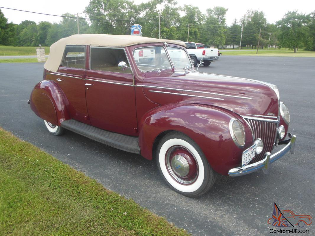 1939 ford 4 door convertible very nice restoration. Black Bedroom Furniture Sets. Home Design Ideas