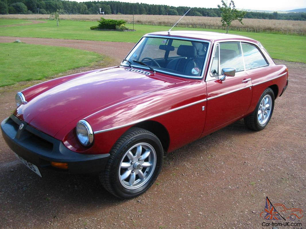 1977 mg b gt red unrestored low mileage 32k miles from new. Black Bedroom Furniture Sets. Home Design Ideas