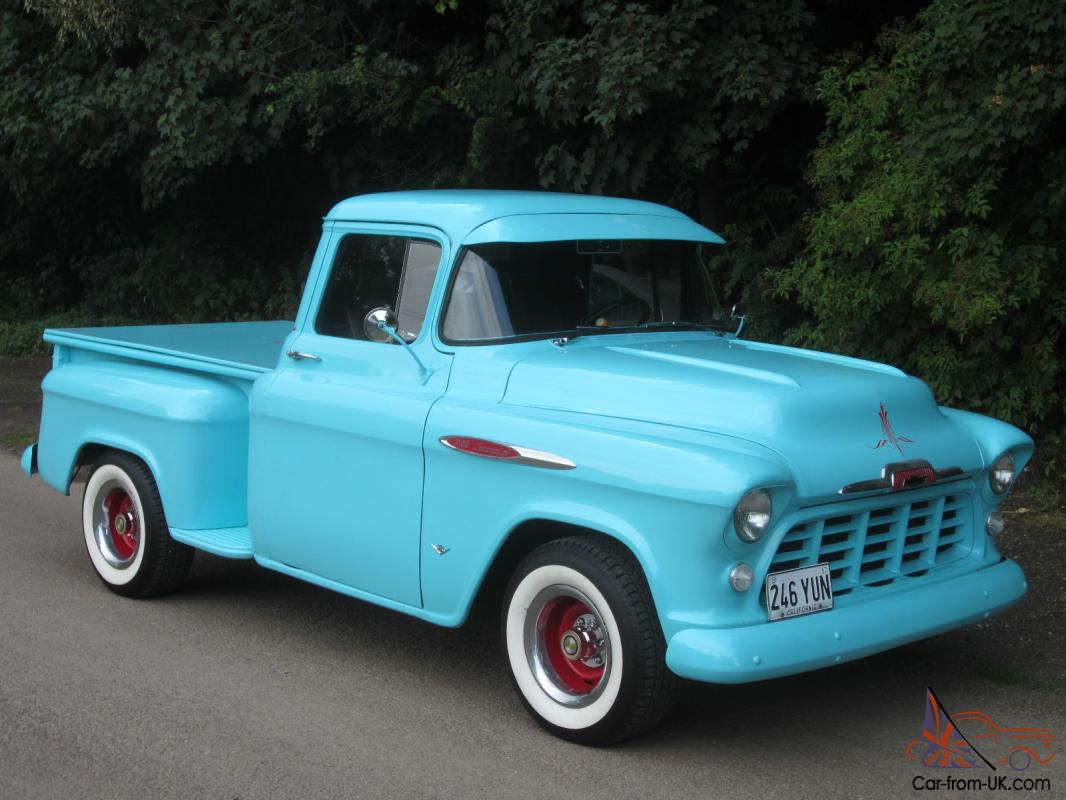 classic american hot rod 1957 chevrolet v8 stepside pickup. Black Bedroom Furniture Sets. Home Design Ideas