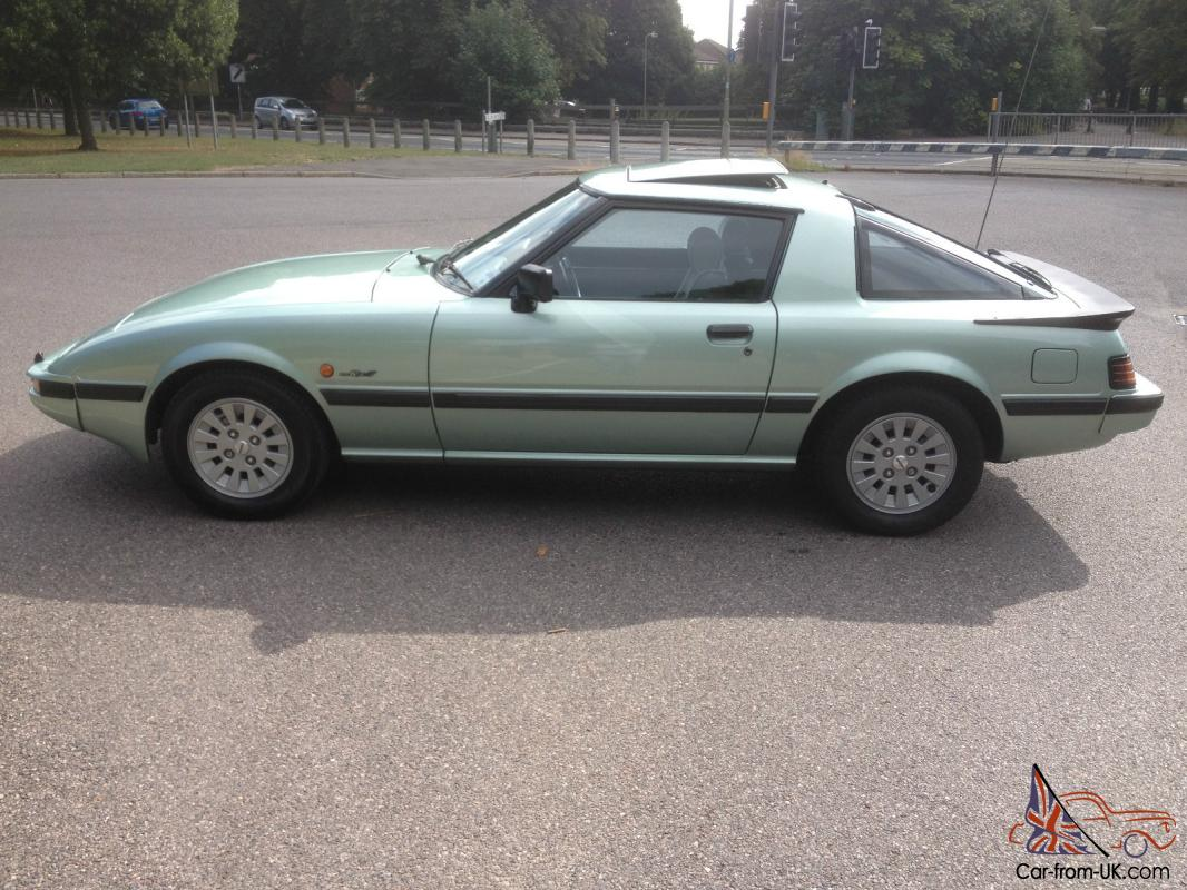 1986 mazda rx7 2 green series one amazing condition just serviced and mot. Black Bedroom Furniture Sets. Home Design Ideas
