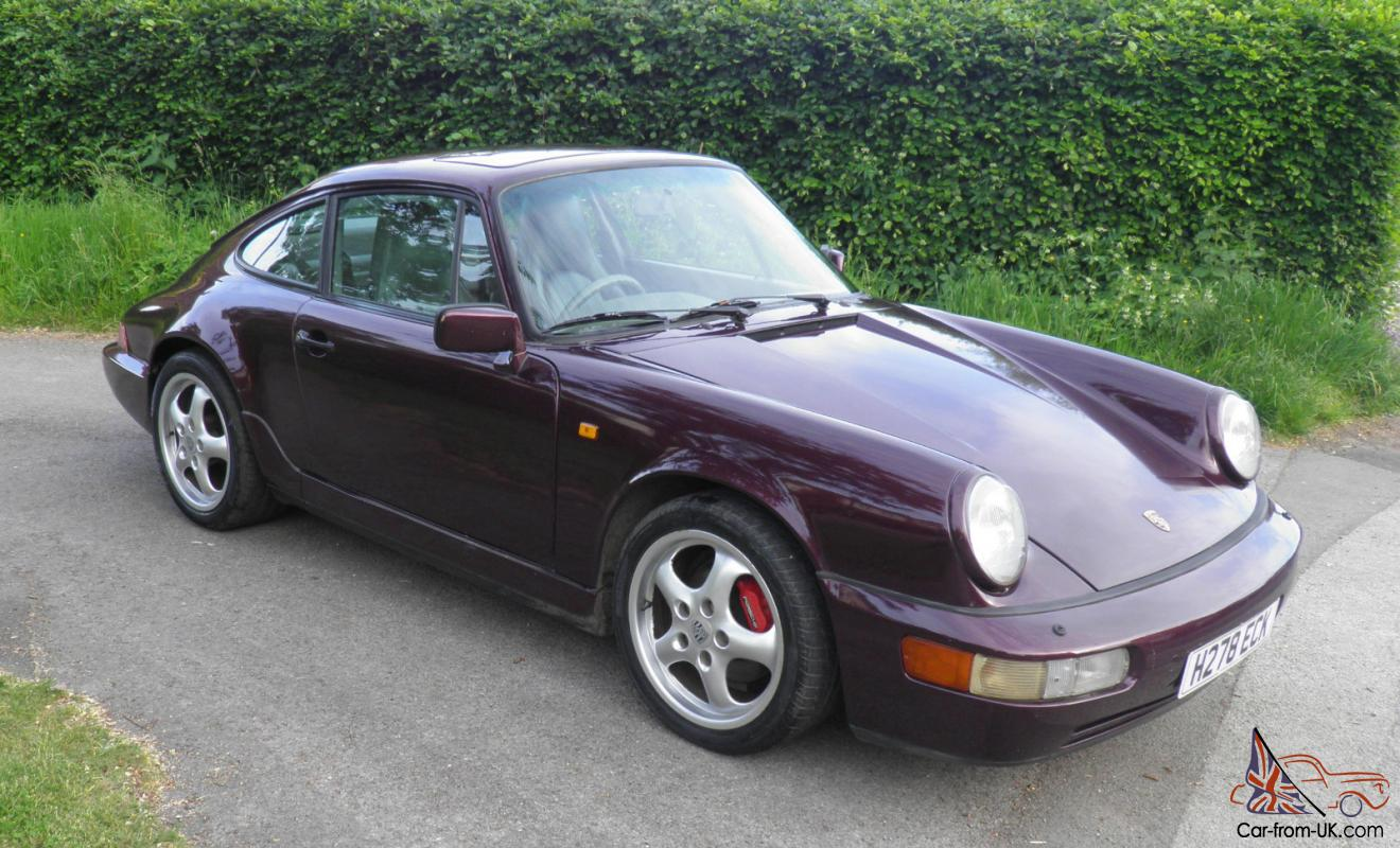 porsche 911 964 carrera 2 coupe tiptronic maroon 1990. Black Bedroom Furniture Sets. Home Design Ideas