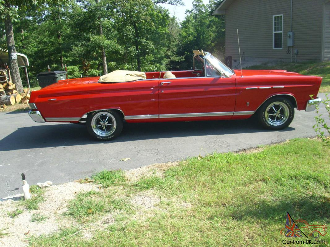 1965 Mercury Caliente Convertible Red W Tan Top And Interior Nice