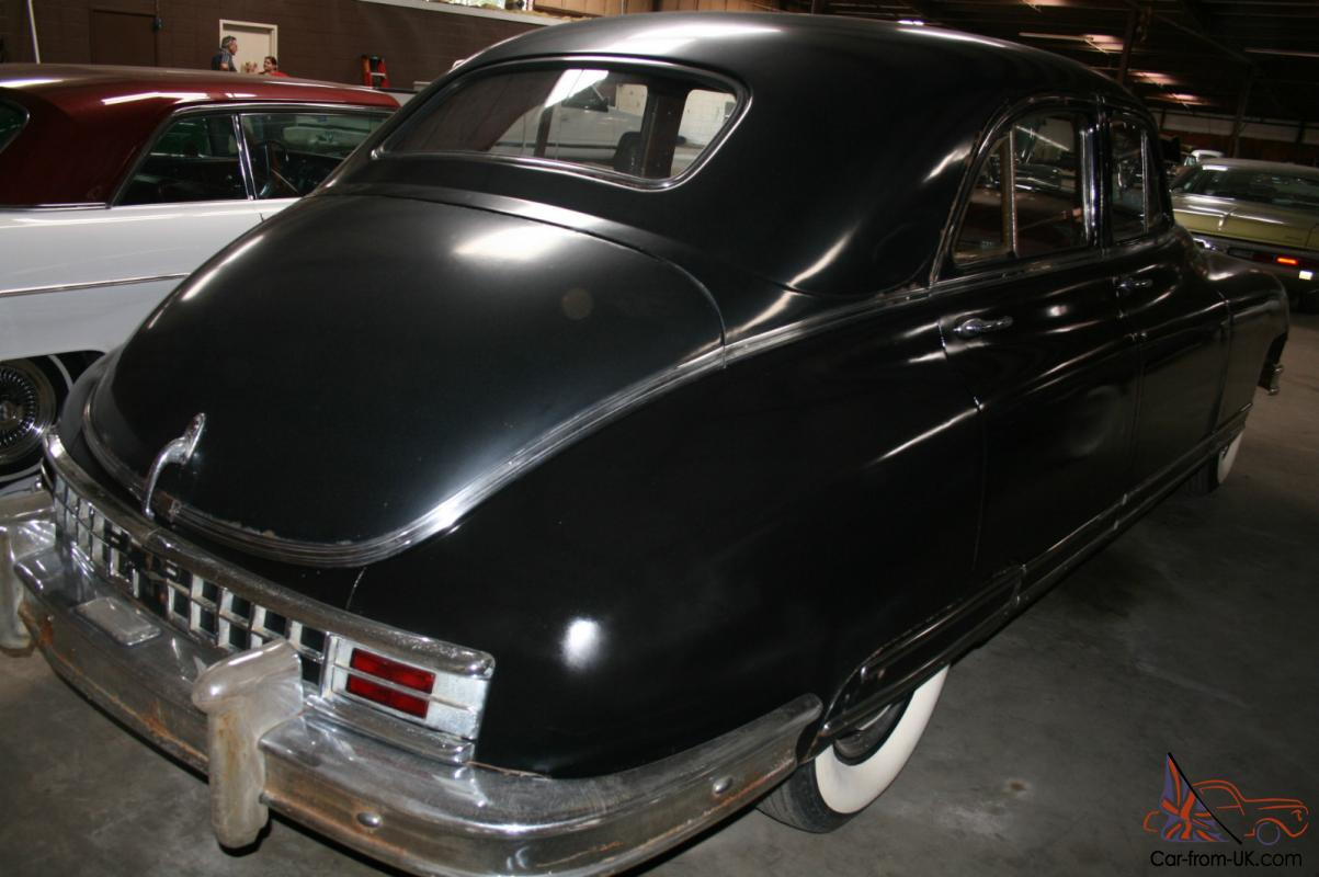 RARE UNRESTORED 1948 BLACK PACKARD CUSTOM EIGHT TOURING SEDAN MUST ...
