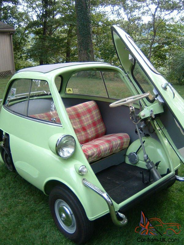 bmw isetta 1 door motocoupe with extreme low mileage