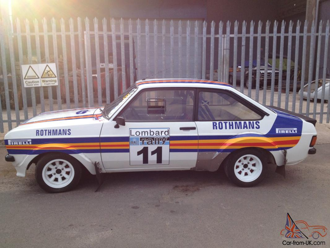 escort mk2 rally car for sale