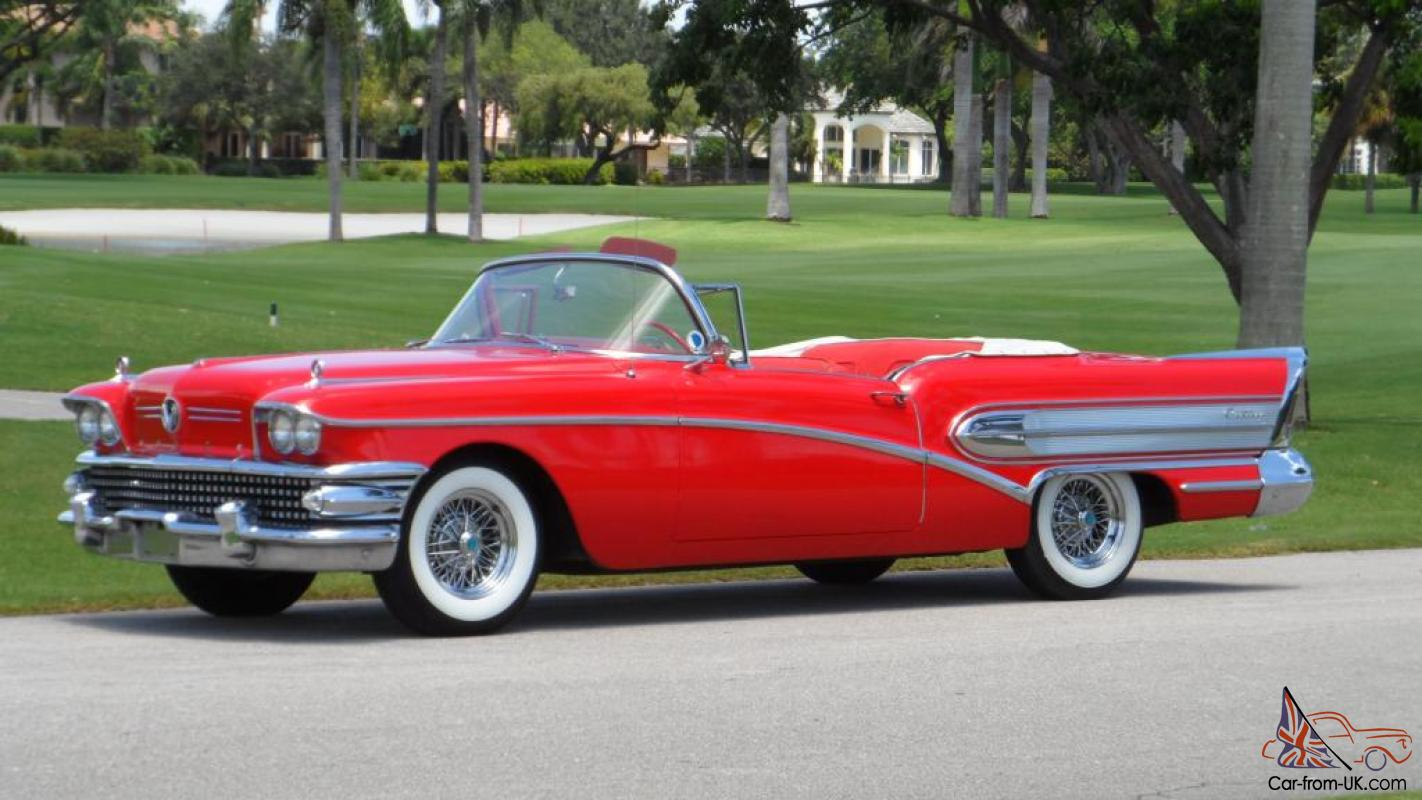 1958 Buick Century Convertible 51k Miles Two Owner