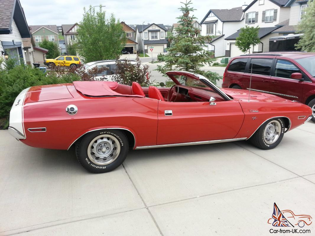 1970 DODGE CHALLENGER R/T CONVERTABLE 383 4 SPEED 39000 ORIGINAL MILES ...