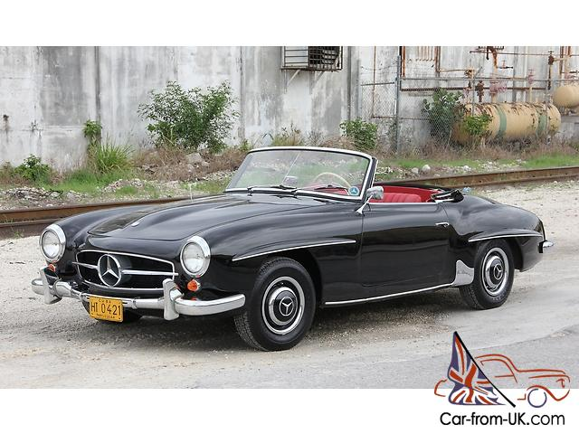 1962 Mercedes Benz 190 Sl Roadster Clic Convertible Vintage Balck And Red