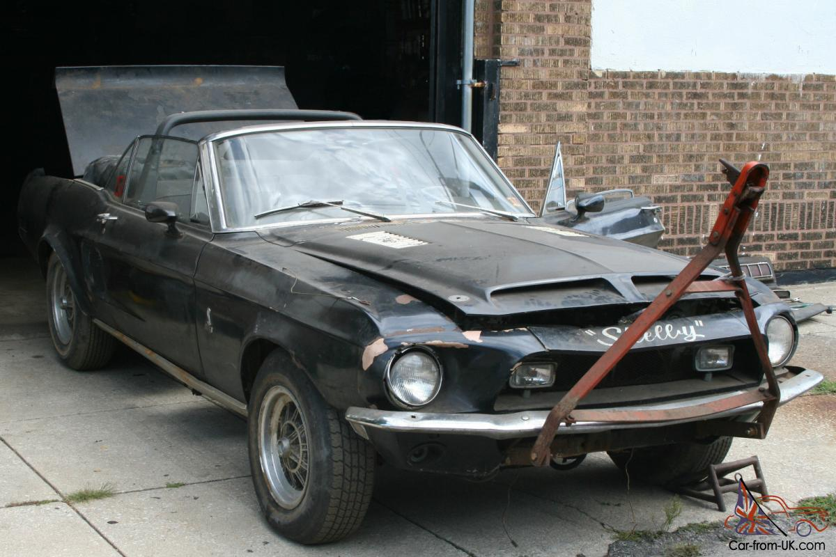Search Cars: 1968 Ford Shelby Mustang GT 500 Convertible 428 Big Block