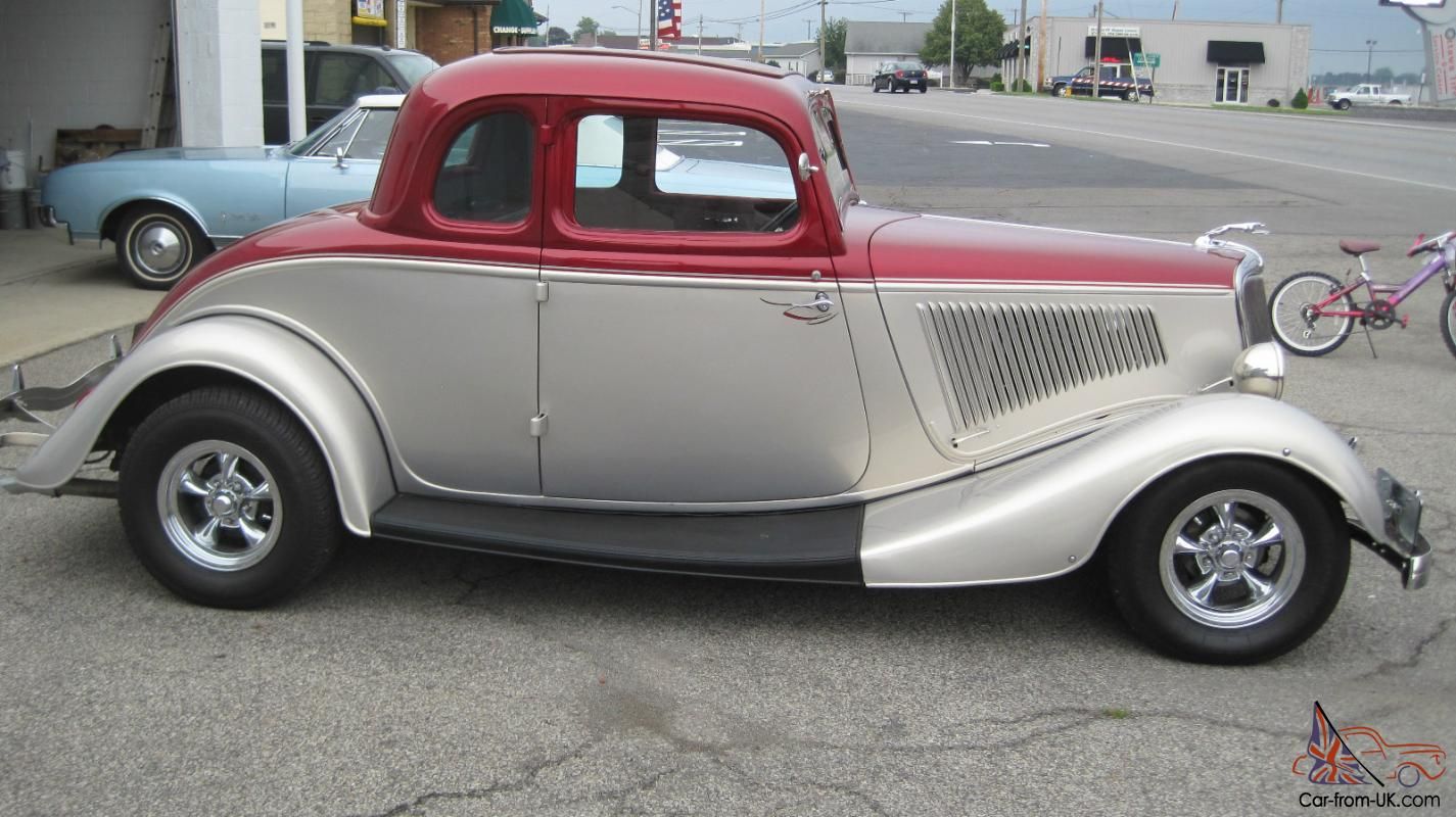 1934 ford 5 window coupe hot rod street rod 302 c4 for 1934 ford 5 window for sale