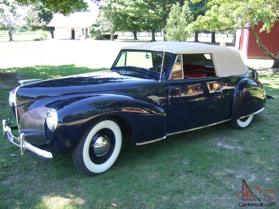1940 lincoln continental convertible cabriolet full classic. Black Bedroom Furniture Sets. Home Design Ideas