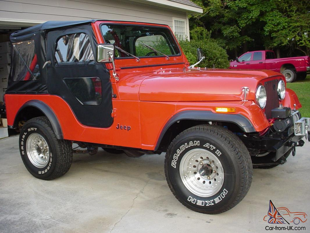 1982 jeep cj5 restored front to rear eng and trans very nice jeep lot of extras. Black Bedroom Furniture Sets. Home Design Ideas