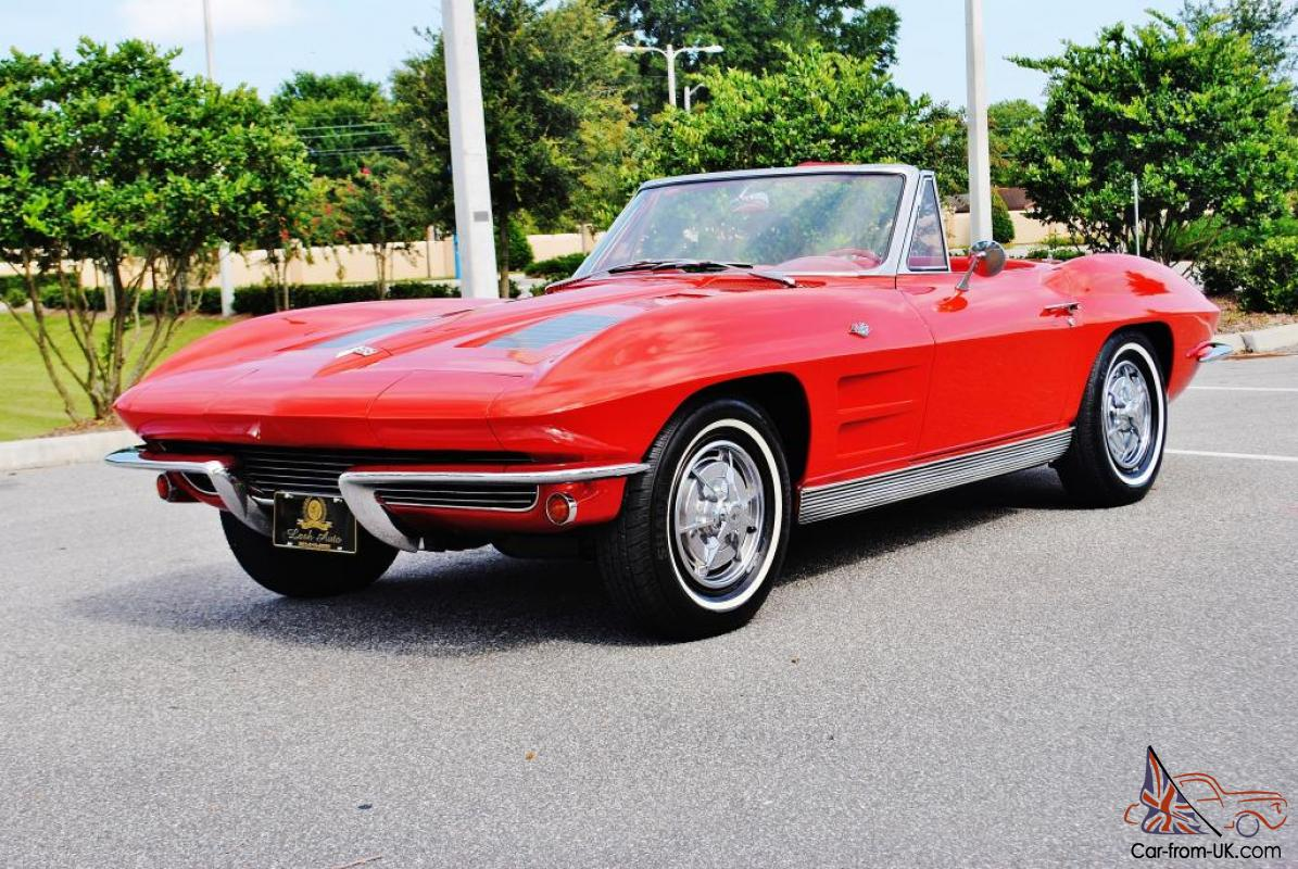 simply spectacular 63 chevrolet corvette convertible 4 speed a c rare beautiful. Black Bedroom Furniture Sets. Home Design Ideas