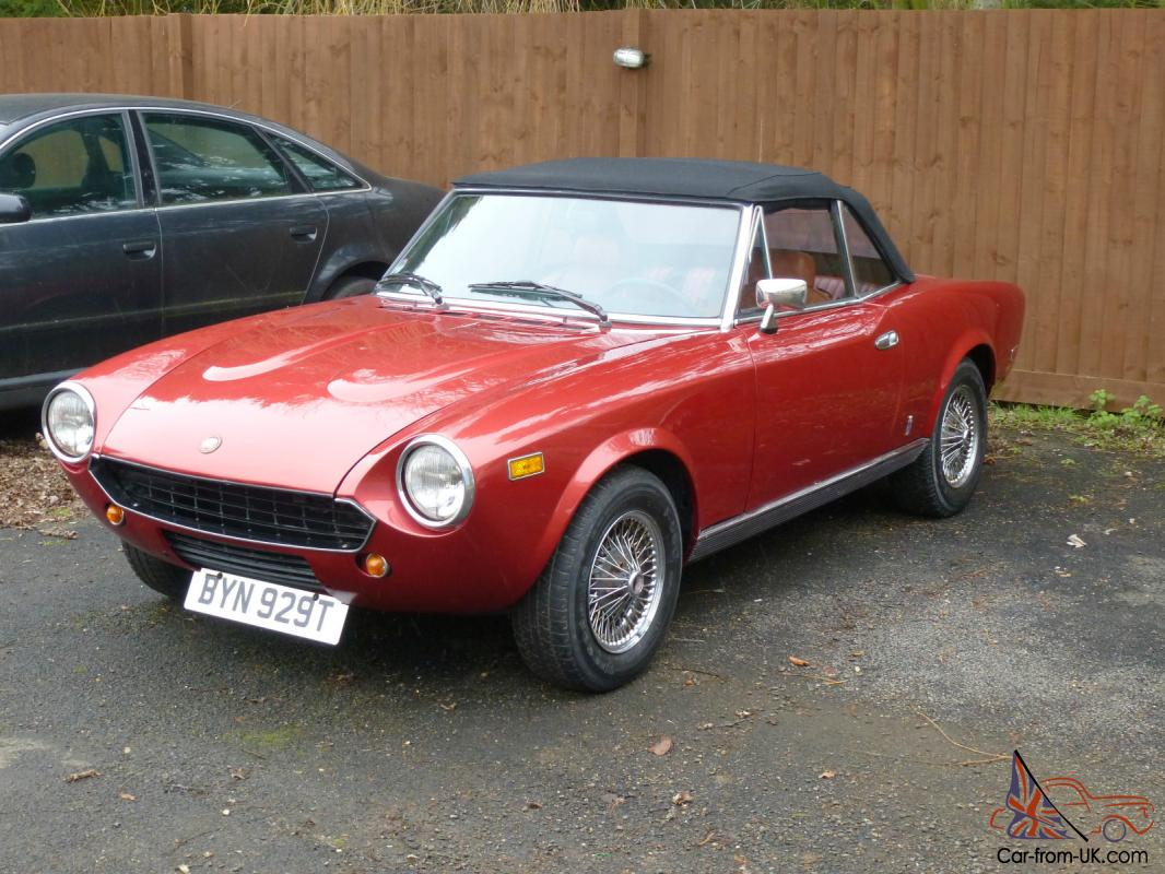 fiat 124 spider 1979 pininfarina convertible. Black Bedroom Furniture Sets. Home Design Ideas