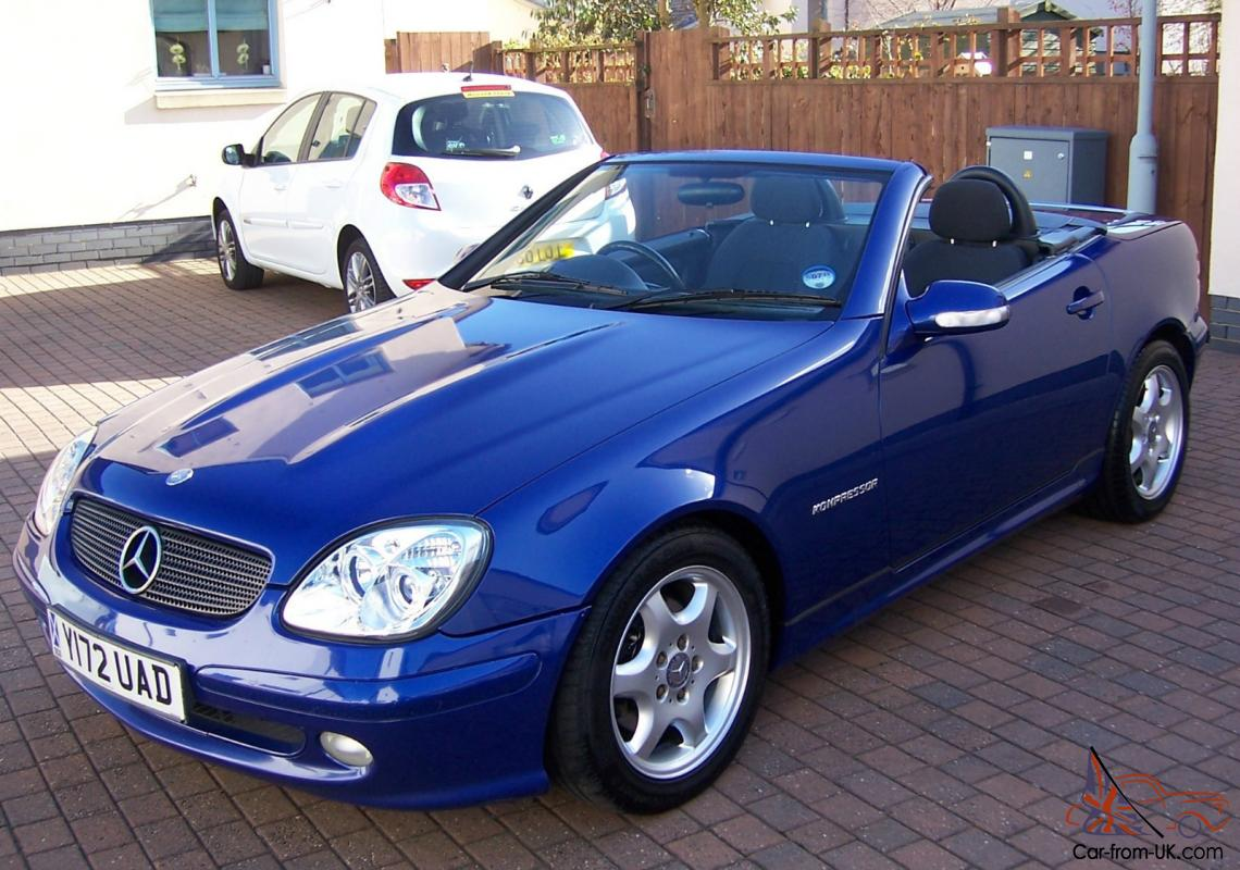 2001 mercedes slk 230 kompressor automatic blue metallic. Black Bedroom Furniture Sets. Home Design Ideas