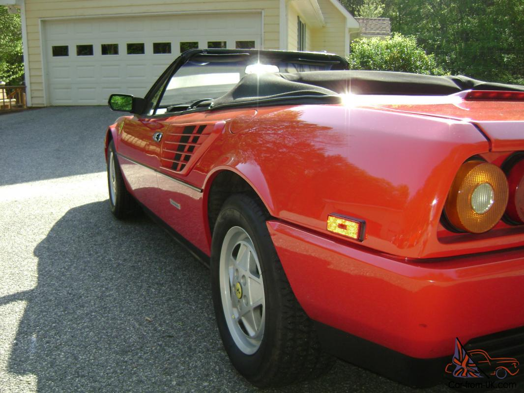 1986 ferrari mondial cabriolet 3 2 v8 quatrovalvole excellent condition. Black Bedroom Furniture Sets. Home Design Ideas