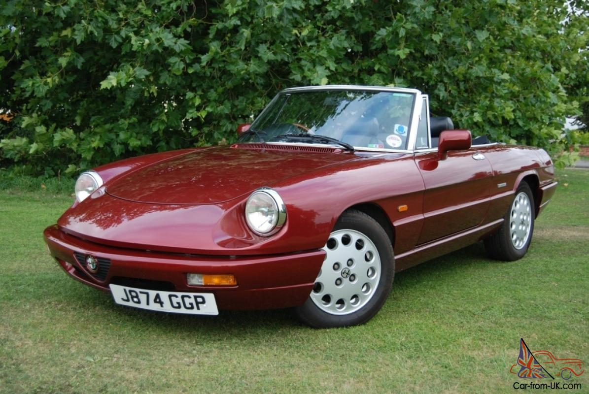 Alfa Romeo Spider S RHD History From New VLM Factory Hardtop - Alfa romeo spider new model