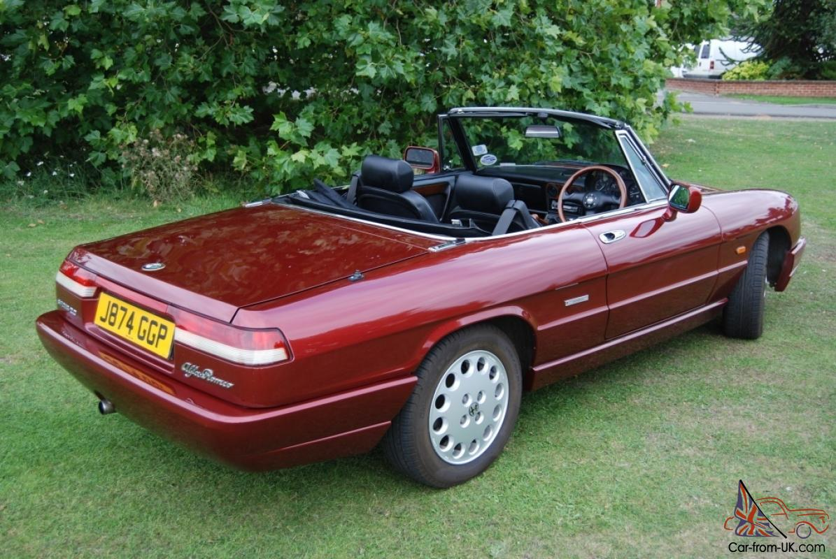 Alfa Romeo Spider S RHD History From New VLM Factory Hardtop - Alfa romeo spider hardtop for sale