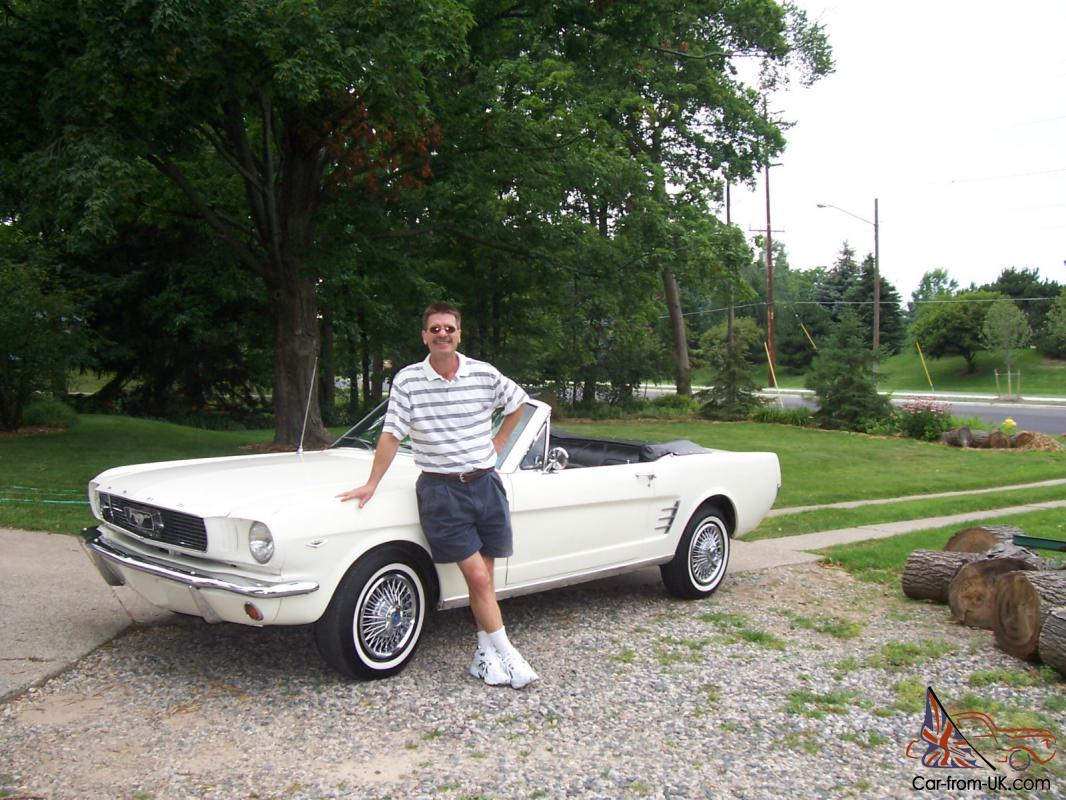 1966 mustang convertible, white, black top, 16,000 miles with