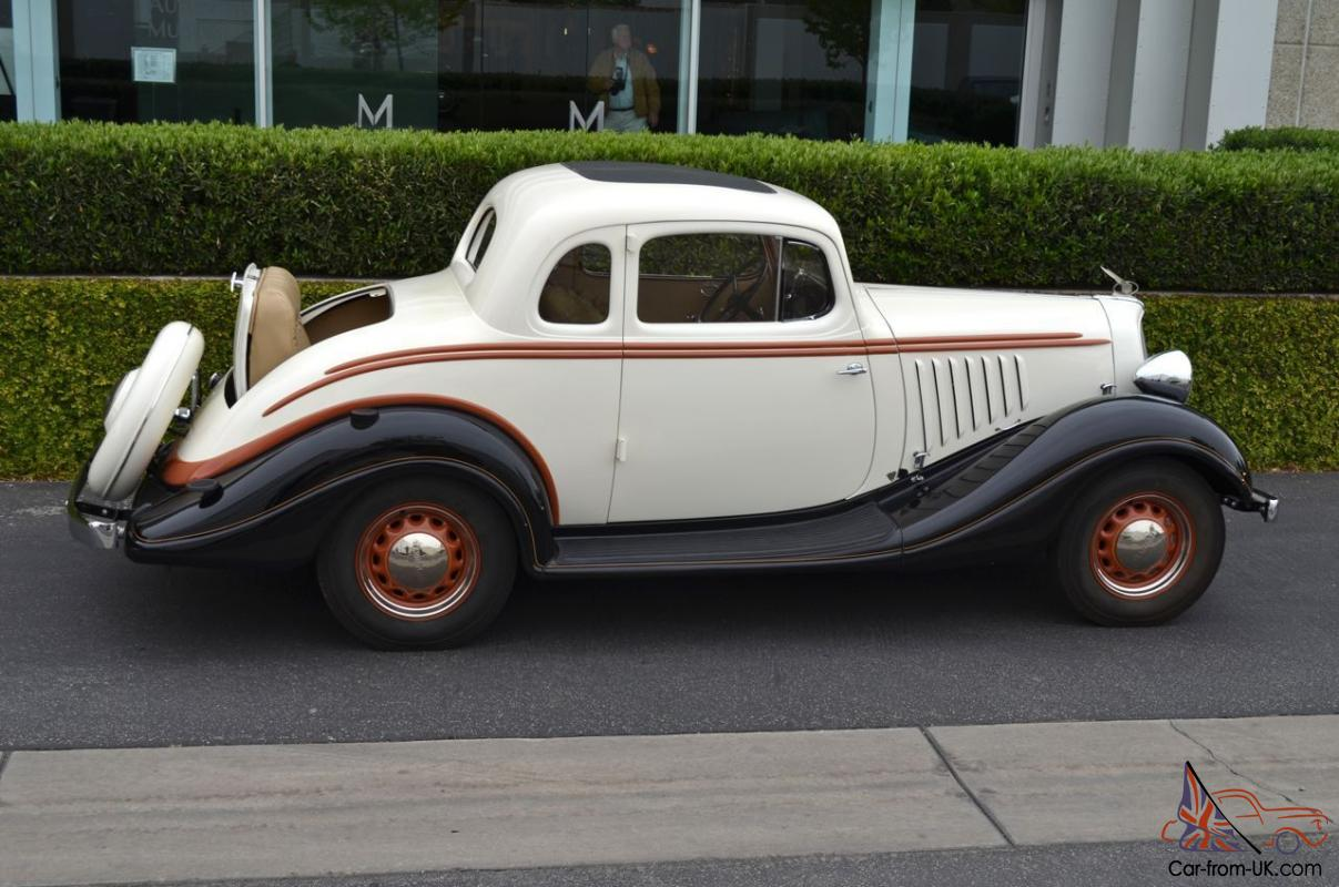 1934 Hudson Terraplane Ku Rumble Seat Coupe Super Six