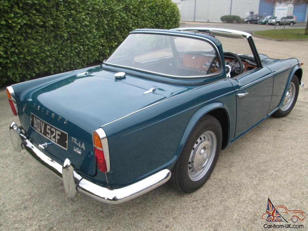 Triumph Tr4airs1967valencia Blue With Surrey Hardtopmust Be