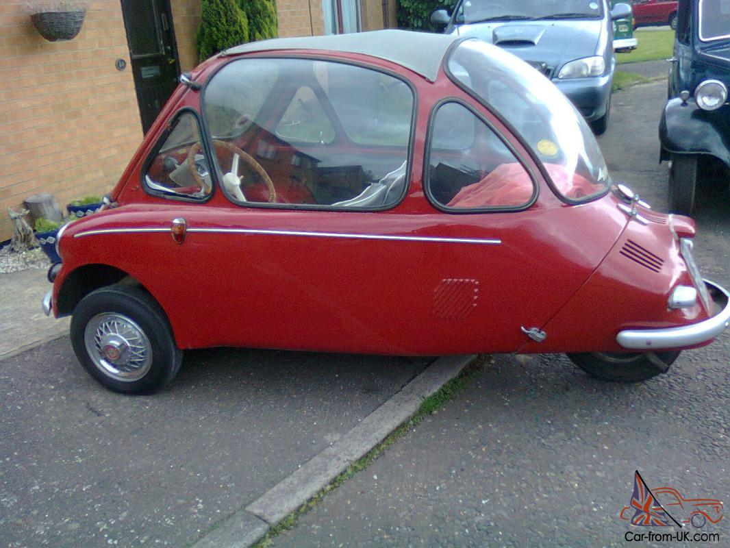 HEINKEL BUBBLE CAR 1956 VERY RARE MODEL THREE WHEELER