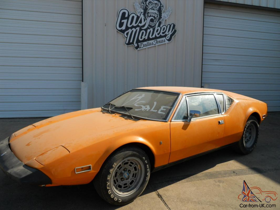 1974 detomaso pantera barn find rare factory color offered by gas monkey garage. Black Bedroom Furniture Sets. Home Design Ideas