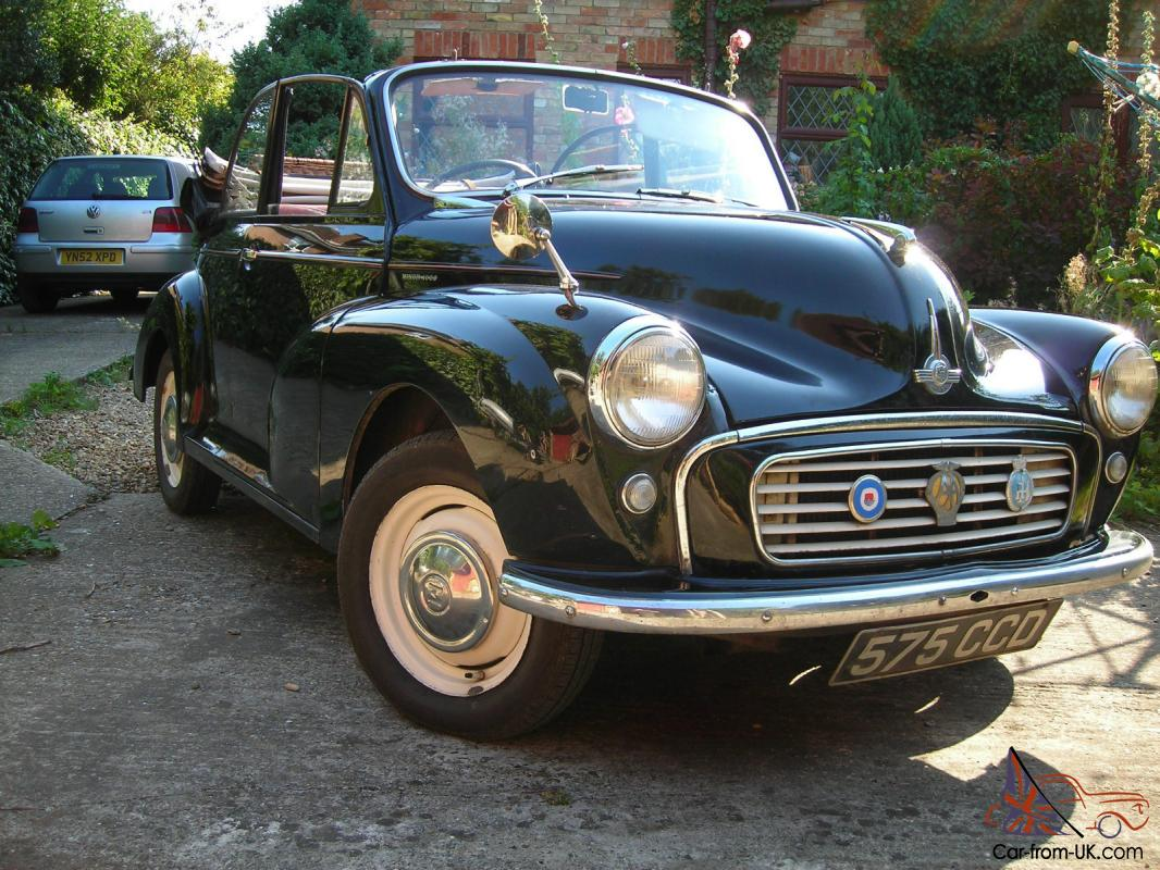 Morris Minor Convertible 1963 Black Mot July 2014 Lots