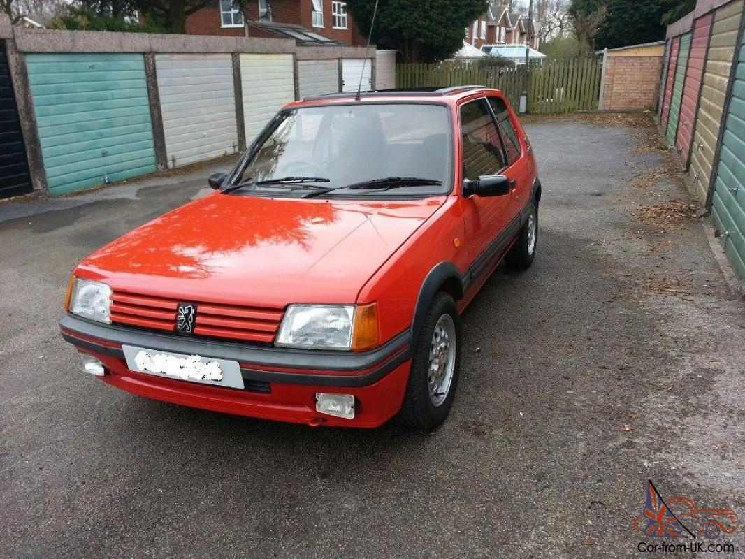 Classic Original 1989 Peugeot 205 Gti Red Low Mileage 62000 Not Mi16 Wiring Hilux No Swap