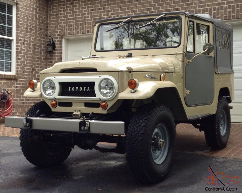 1969 toyota fj40 land cruiser fst rare factory soft top. Black Bedroom Furniture Sets. Home Design Ideas