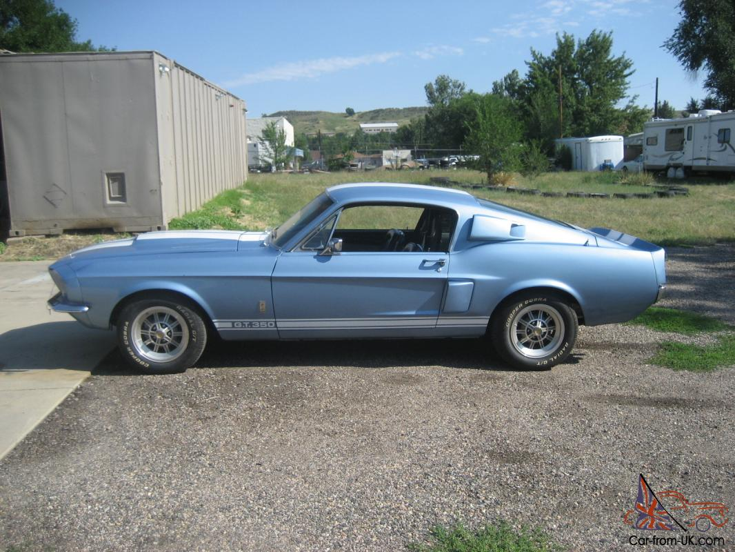1967 shelby gt 350 auto brittney blue metalic great driver. Black Bedroom Furniture Sets. Home Design Ideas