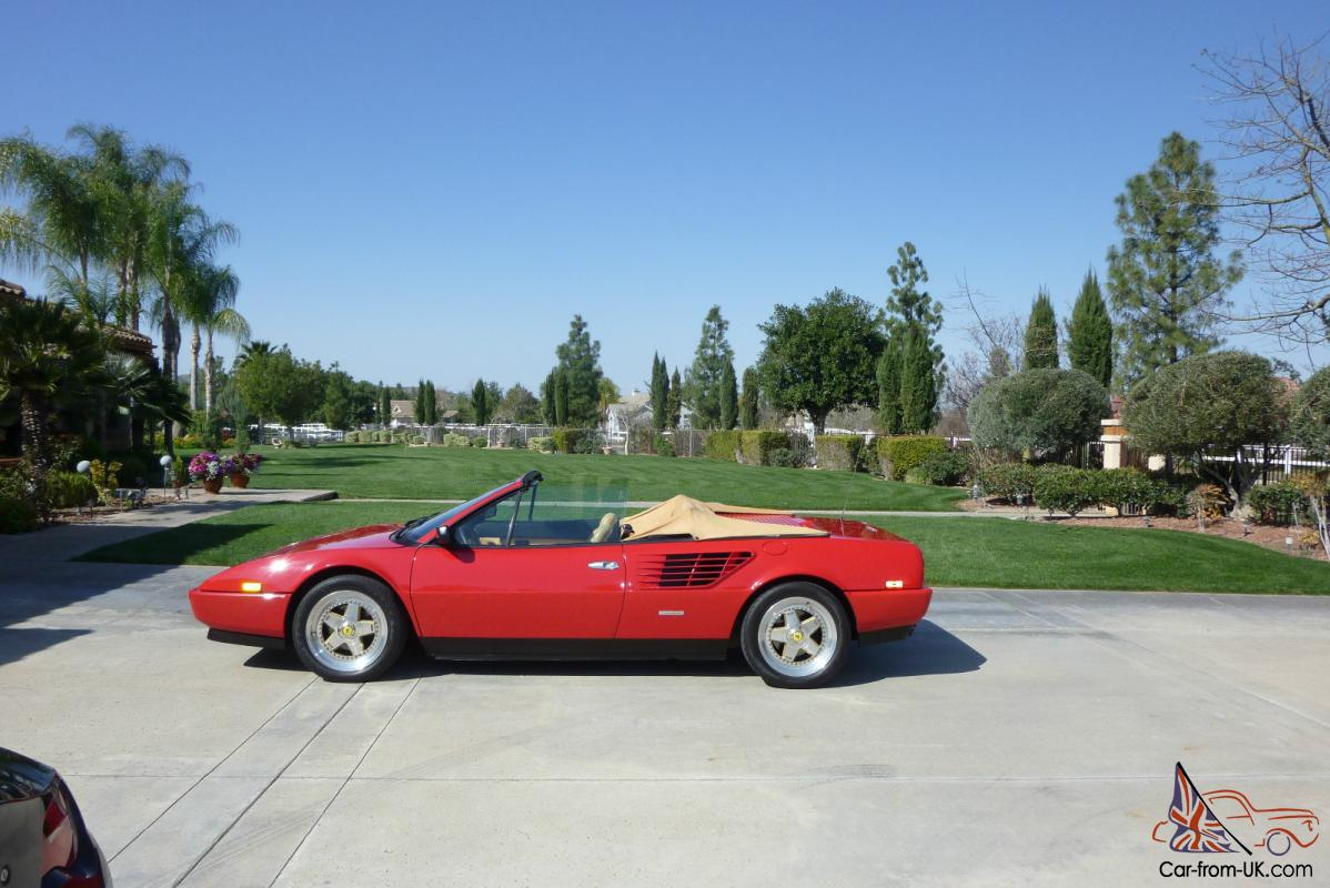 1988 ferrari mondial cab red tan great condition 38k miles. Black Bedroom Furniture Sets. Home Design Ideas