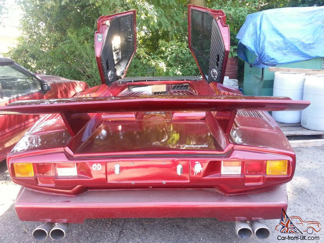 1989 red lamborghini countach kit car great engine runs well. Black Bedroom Furniture Sets. Home Design Ideas