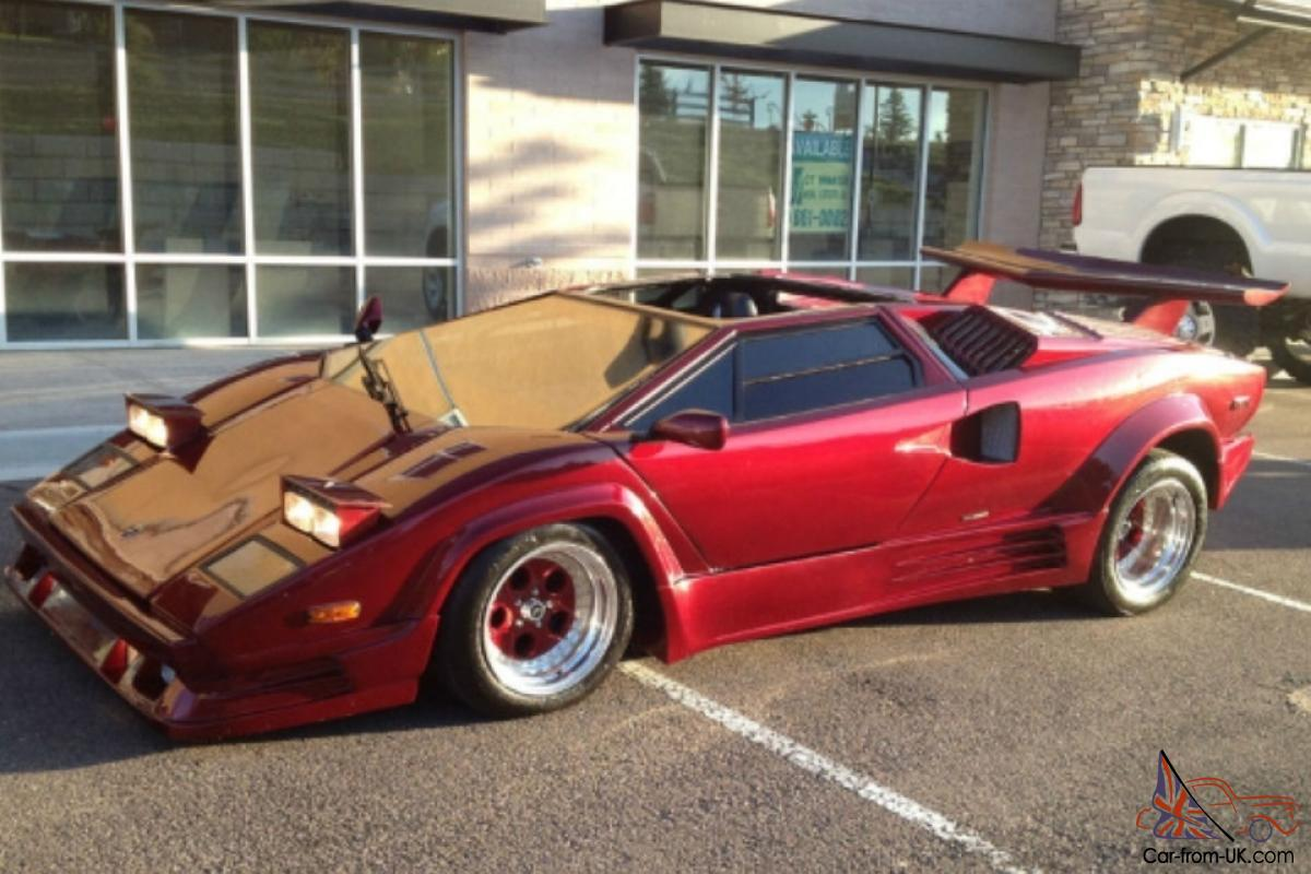 1989 Red Lamborghini Countach Kit Car Great Engine Runs Well