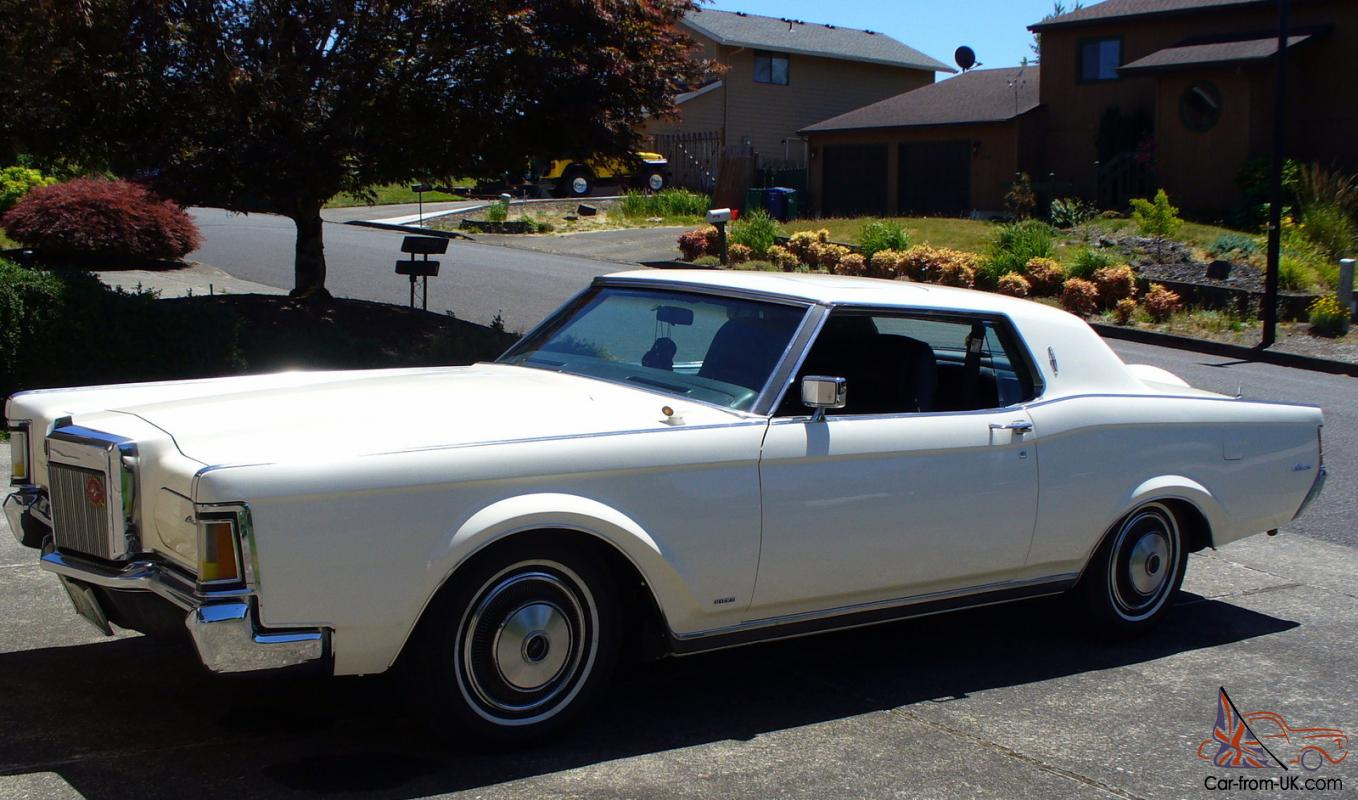 1971 lincoln mark iii continental wimbledon white freshly restored. Black Bedroom Furniture Sets. Home Design Ideas