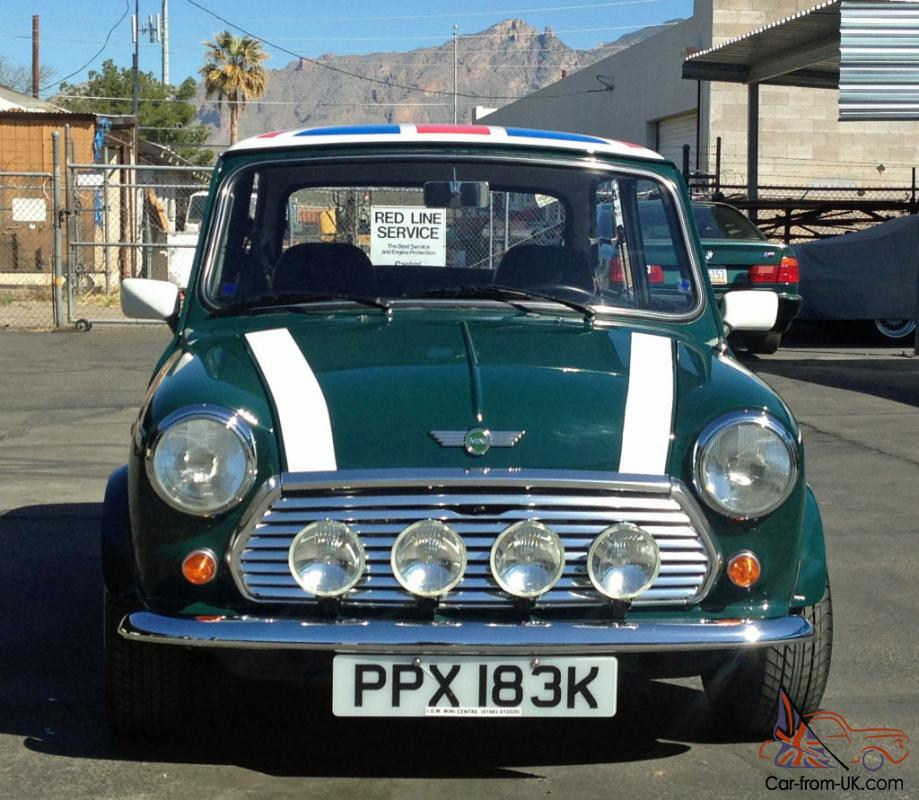 1971 mini cooper 1000 saloon british green union jack full. Black Bedroom Furniture Sets. Home Design Ideas