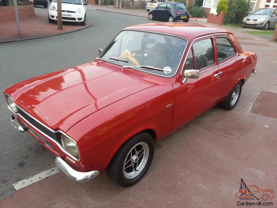 Ford escort mk1 1300gt red 5 owners genuine 49000 miles excellent example photo