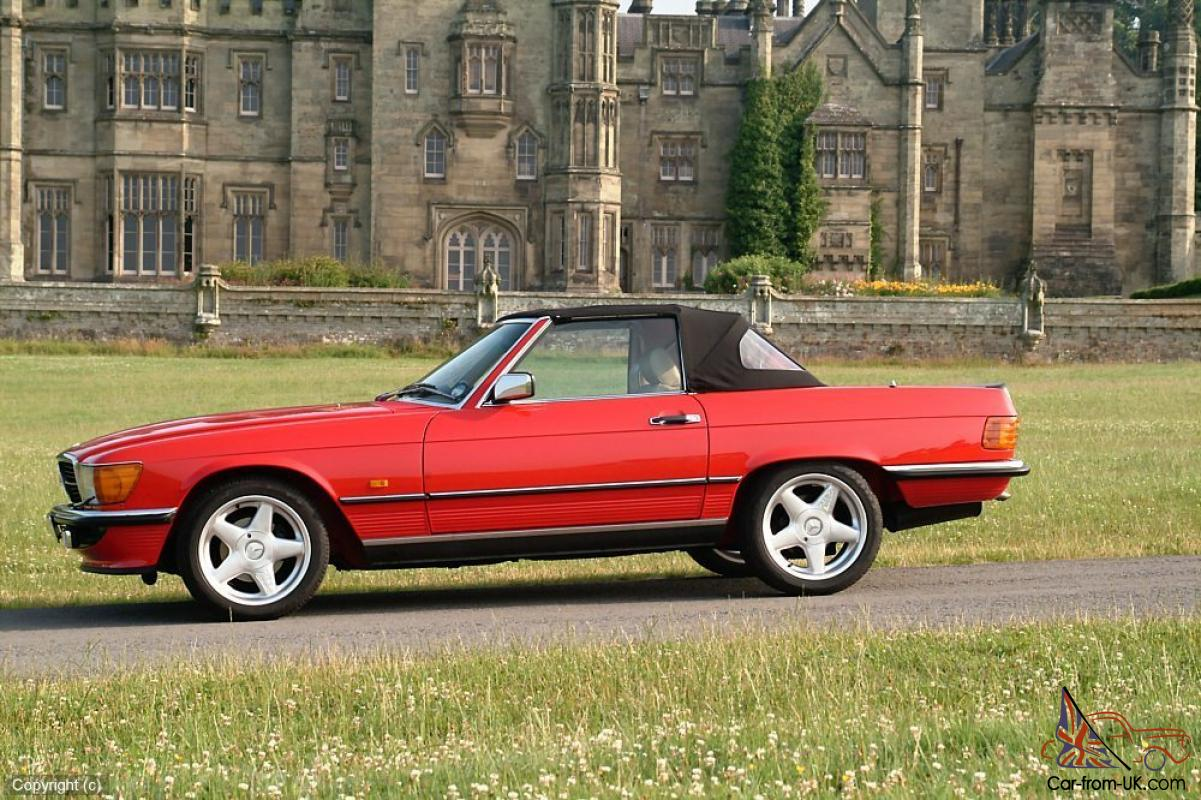 Mercedes benz 500sl classic convertible 1988 signal red for Mercedes benz red