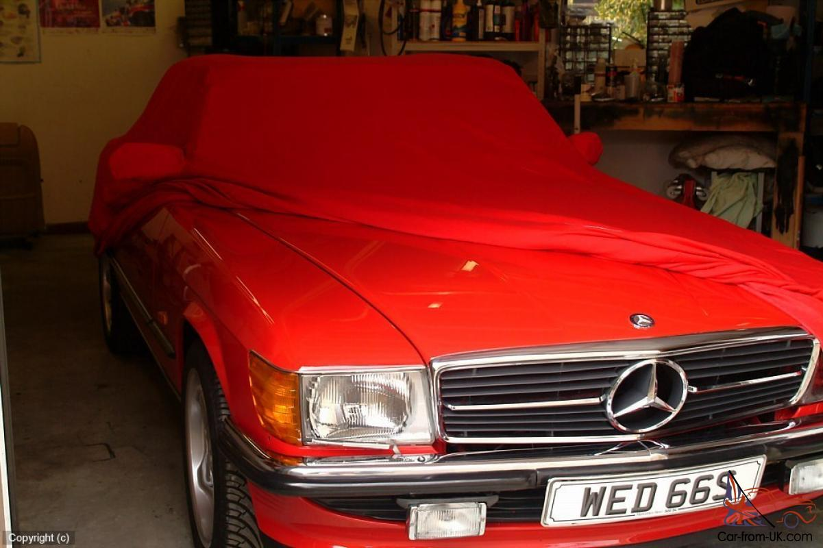 Mercedes benz 500sl classic convertible 1988 signal red for Who owns mercedes benz now
