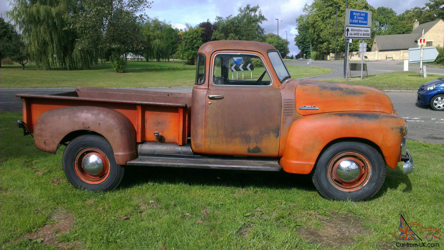 1948 gmc 3 4 ton stepside pickup truck ratrod original condition like chevrolet. Black Bedroom Furniture Sets. Home Design Ideas