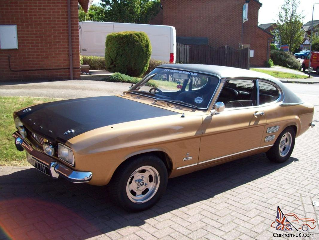 1970 ford capri 2000 gt xlr gold 20 969 miles from new genuine runs on unleaded. Black Bedroom Furniture Sets. Home Design Ideas