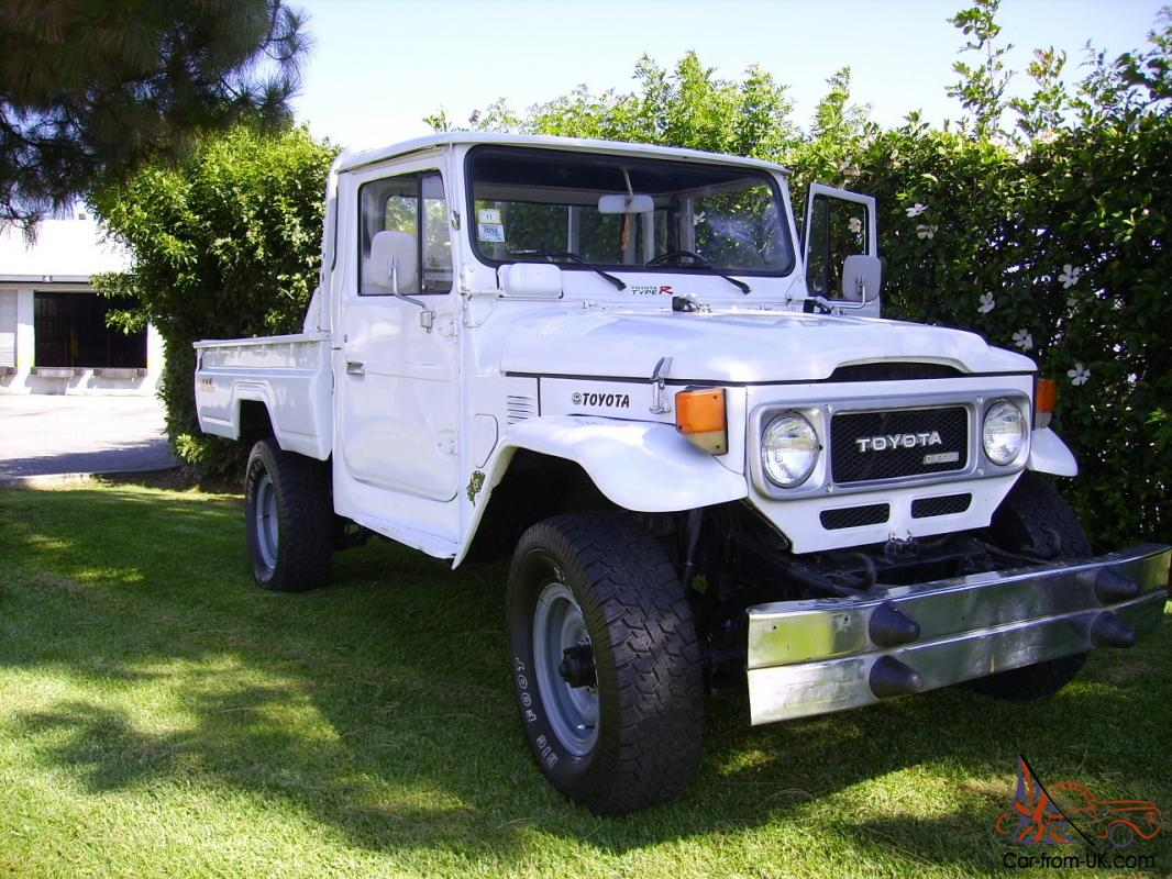 rare peculiar 1979 toyota land cruiser fj45 pick up truck strai 6cyl diesel 4x4. Black Bedroom Furniture Sets. Home Design Ideas