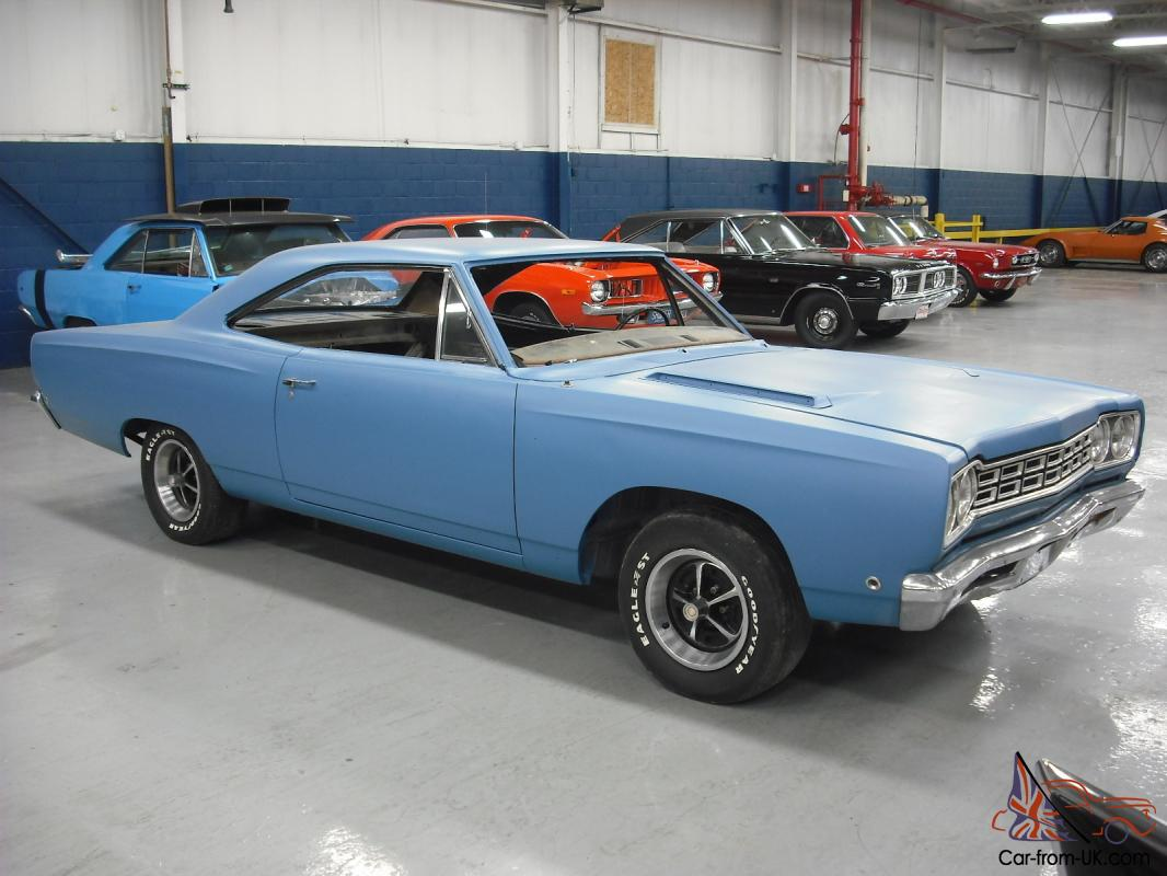 1968 plymouth road runner 426 hemi 4 speed blue. Black Bedroom Furniture Sets. Home Design Ideas