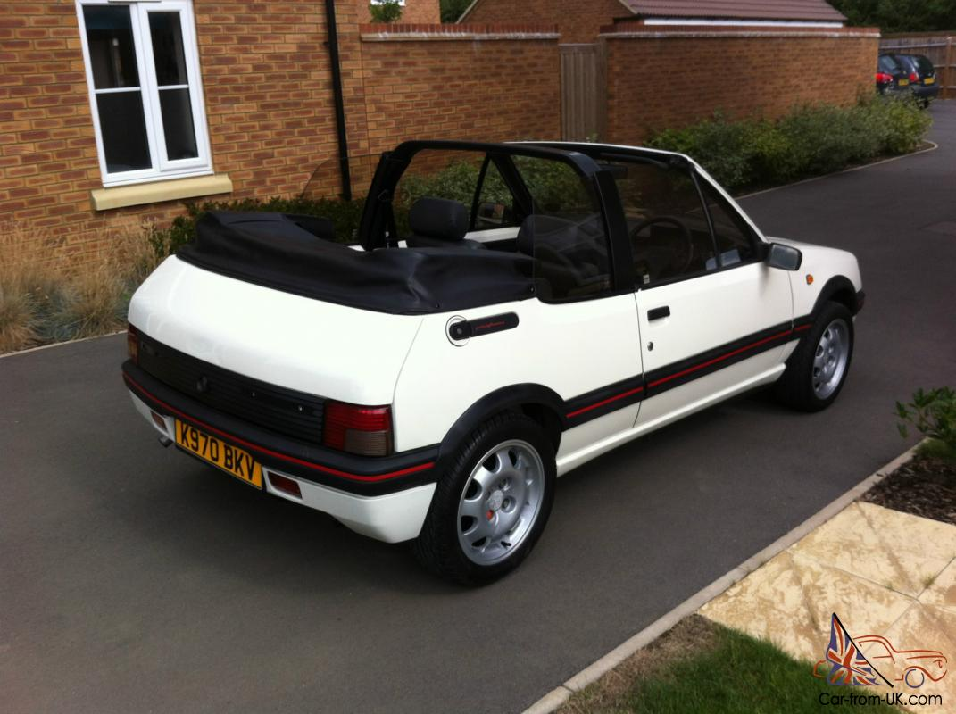 peugeot 205 cti automatic rare only 10 made 1 9 gti engine. Black Bedroom Furniture Sets. Home Design Ideas