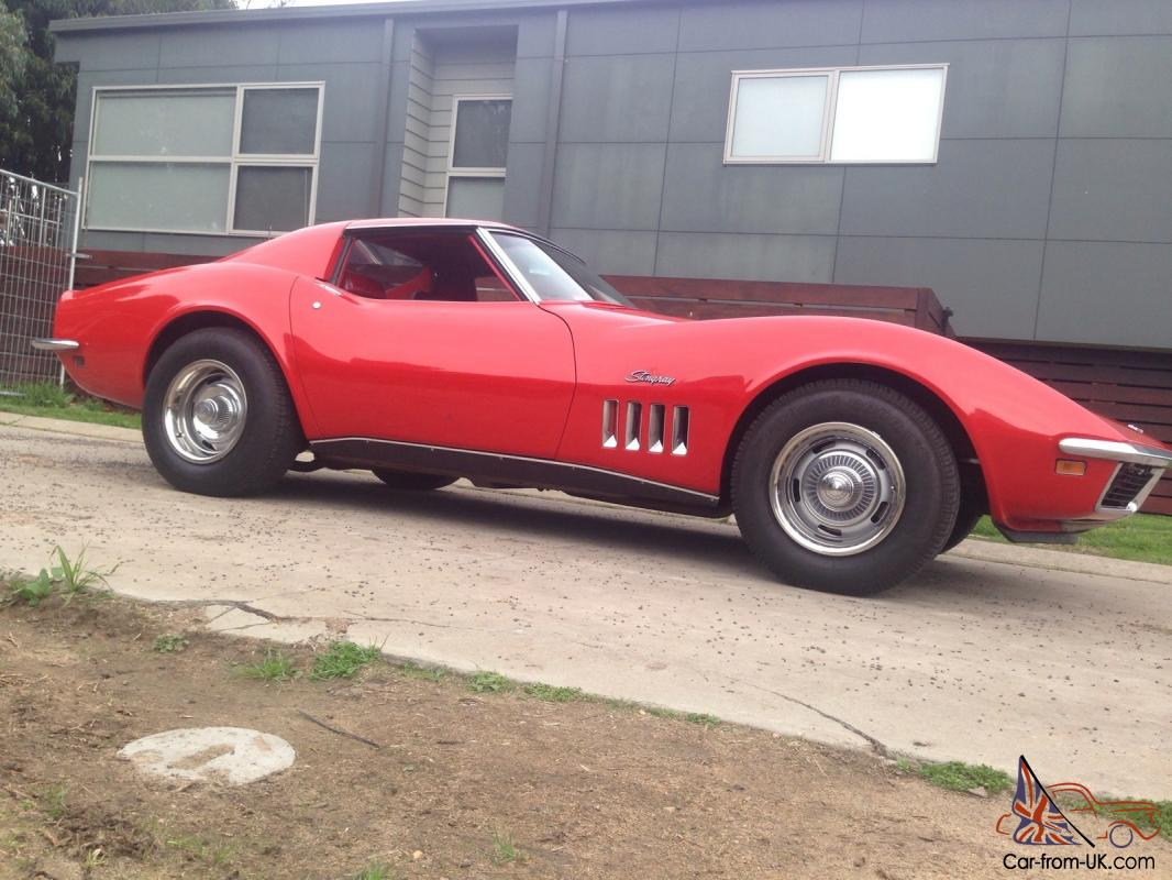 1969 chevrolet corvette stingray coupe red 350 manual in in western district vic. Black Bedroom Furniture Sets. Home Design Ideas